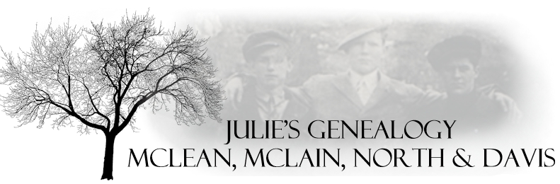 Julie's Genealogy, McLean, McLain, North & Davis Families of Athens County, Ohio
